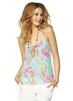 $27.99 • Buy Women's Size Small Lilly Pulitzer Dusk Cami Tank Top Silk Jellies Be Jammin