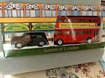 $ CDN6.28 • Buy Harrods Scenes Of London Boxed Set/black Taxi And Double Decker Bus