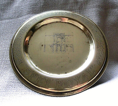 £18 • Buy Rare Vintage Solid Brass Gilbey Spey Royal Scotch Whisky Advertising Ashtray