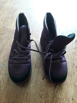 £9.99 • Buy Ladies Size 7 Cloudsteppers Boots By Clarks - Purple Bn