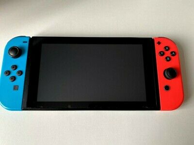 $ CDN450.07 • Buy Nintendo Switch - Red/Blue Neon Colour - IMPROVED BATTERY VERSION - BARGAIN