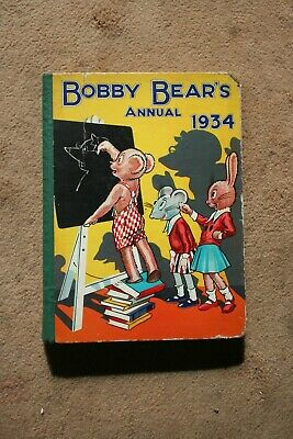 £10 • Buy Bobby Bear Annual 1934 Childrens Story Vintage Hardback Book 122 Pages Good Cond