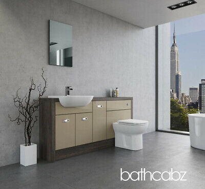 £845 • Buy Bathroom Fitted Furniture Cappuccino Gloss/mali Wenge A1 1700mm - Bathcabz