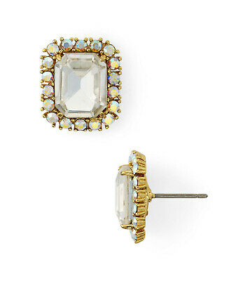 $ CDN37.72 • Buy Kate Spade New York  Bright Ideas Gold-Tone Clear Square Stud  Earrings In Box