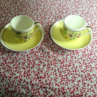 £30 • Buy CROWN STAFFORDSHIRE PAIR COFFEE CUP & SAUCER 1945c ESPRESSO