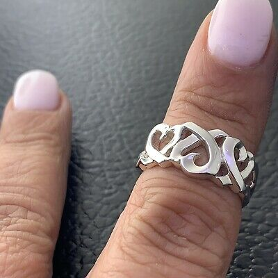 £101.64 • Buy Tiffany&Co  Loving Heart Ring Paloma Picasso In Sterling Silver Sz 6