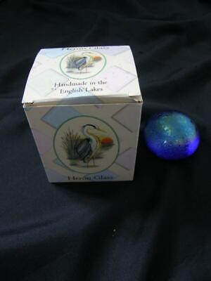 £14.99 • Buy Heron Glass Iridescent Blue Paperweight With Box