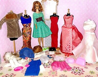 $ CDN31.47 • Buy BIG Vintage Barbie Doll With Clothes & Accessories Lot