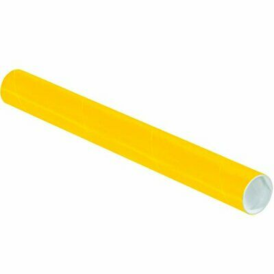 $87.01 • Buy Partners Brand PP2018Y Mailing Tubes With Caps 2  X 18  Yellow Pack Of 50