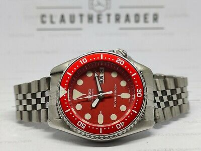 $ CDN40.28 • Buy Pre Owned Seiko 7s26-0030 Skx013 Automatic Mens Watch Red Face Modded 705210