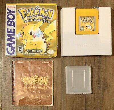 $225 • Buy Pokemon Yellow GameBoy Game Complete With Box - Pikachu- Saves & Authentic