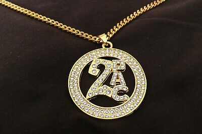£14 • Buy Gold Coloured 2pac Tupac 26  Chain Necklace Jewellery Bling Rap Iced Hip Hop