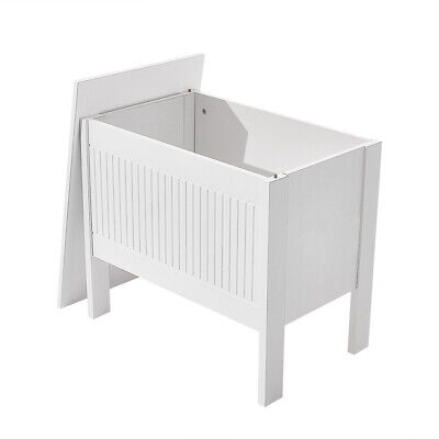 £24.99 • Buy Wooden Ottoman Blanket Toy Box Chest Bench Seat Storage Cabinet White And Oak