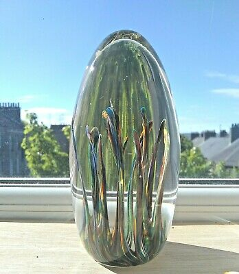 £20 • Buy Strathearn Glass Tropic Paperweight Seaweed 5 Inches / 12.5 Cm High C.1960-70's