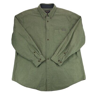 $21.95 • Buy Woolrich Chamois Flannel Long Sleeve Button Down Shirt Sage Green Size XL