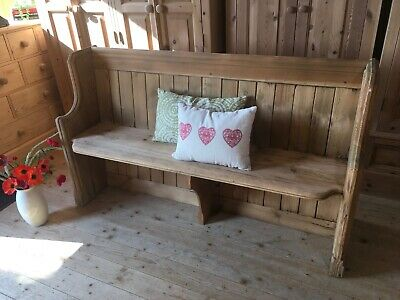 £295 • Buy Antique Church Pew Monks Bench Hall Seat Settle