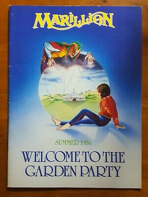 £26 • Buy Marillion Welcome To The Garden Party Summer 1986 Tour Programme + Extras