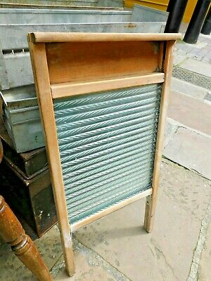 £19.99 • Buy Vintage Glass Washboard / Textured Glass / Original Laundry Board