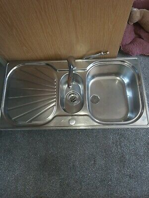 £35 • Buy Franke 1.5 Stainless Steel Sink And Tap Pre Used High Quality