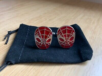 £2.25 • Buy Spiderman Novelty Cufflinks....new.......nice Gift........free Pouch