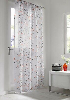 £9.99 • Buy Set Of 2 Berry Orange Embroidered Voile Panel 56  X 72