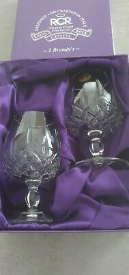 £25 • Buy 2 X RCR Royal Crystal Rock Boxed Lead Crystal Brandy Glasses From Tuscany
