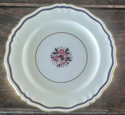 £89.99 • Buy Minton Made For  Tiffany's HP Cabinet Plate Flowers Gold Gilt Blue 27cm
