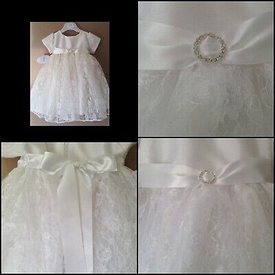 £13 • Buy Baby Girls White Christening Dress  Baptism Gown Party Dress New 18-24 Months