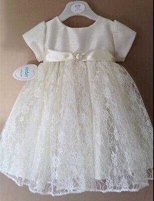 £13 • Buy Baby Girls Ivory Cream Christening Dress  Baptism Gown Party Dress 3-6 Months