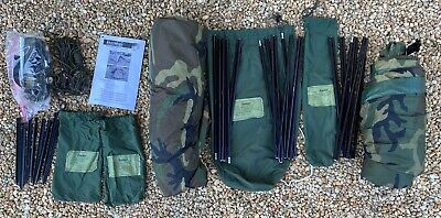 $250 • Buy Us Military One Man Tent Improved Combat Shelter W/poles,stakes,pouches Vg Cond!