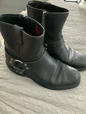 $ CDN25.97 • Buy Harley Davidson Short  Boots Size 7 Leather Ankle Buckle Biker Boots Motorcycle