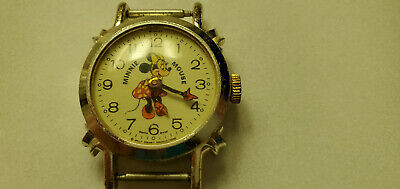 $ CDN18.88 • Buy Vintage Swiss Made Wind-up Minnie Mouse Character Watch By Bradley Non-working