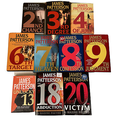 AU27.16 • Buy James Patterson Womens Murder Club Books  Lot Of 10 (9 Hardcover 1 Paperback)