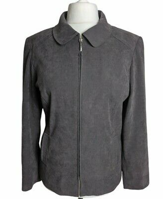 £11.50 • Buy Bm Womens Zip Up Jacket Plus Size 20 Brown  Pockets Lined Casual Spring Overcoat