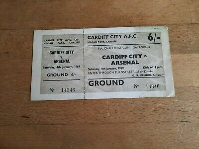 £7.95 • Buy Cardiff City V Arsenal 1969 Fa Cup 3rd Round Complete Unused Ticket Ninian Park