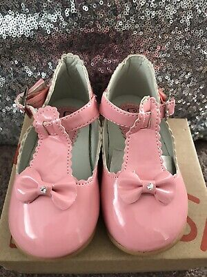 $ CDN3.91 • Buy Kelsi Toddler First Shoes Pink Patent Bow Girls Shoes Brand New Size 8