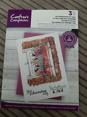 £1.90 • Buy Crafters Companion Clear Stamps. You Brighten My Day.