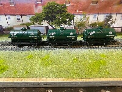 £15 • Buy 3 X Bachmann OO Gauge Tank Wagon 'Crossfield Chemicals' Green Good Condition