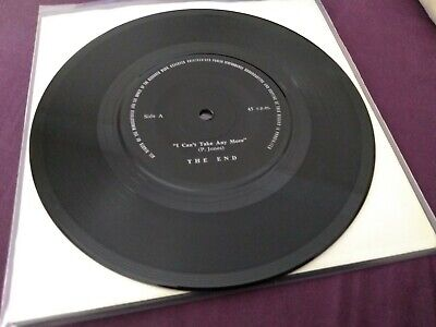 £300 • Buy The End - I Can't Take Any More (RARE PUNK / UK PRIVATE PRESS PUNK 1981 / KBD)