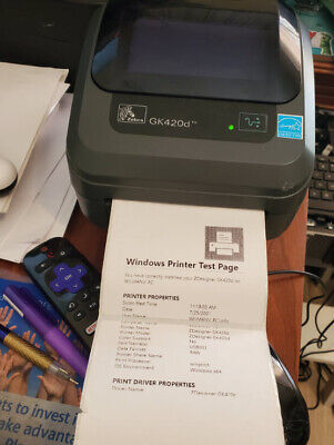 AU201.34 • Buy Zebra GK420D Thermal Label Printer For Parts Flashing Green A Red, INclude Adapt