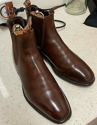 AU90 • Buy RM Williams Craftsman Boots In Chestnut, Rubber Sole, 7.5G, Great Condition