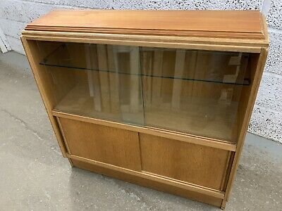 £39.99 • Buy Vintage Gplan Display Cabinet / Bookcase With Sliding Glass Doors