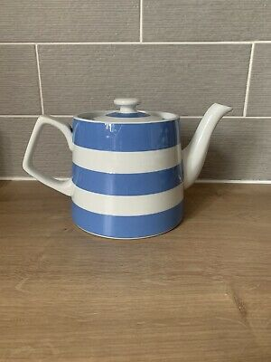 £50 • Buy T G Green Cornishware Blue And White Conical Teapot Green Shield Rare
