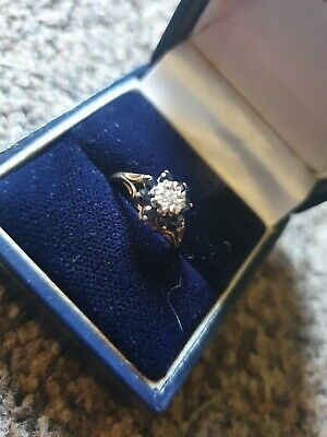 £22.85 • Buy 9ct Gold Diamond And Sapphire Ring