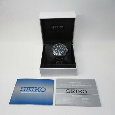 $ CDN242.34 • Buy SEIKO Prospex Automatic Diver's Watch 4R35-01V0 200m Blue/Silver Stainless Steel