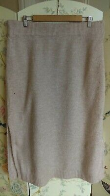 £4 • Buy Beige Oatmeal Knitted Skirt By Primark XL, Size 18 20 (a53)