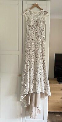 AU326.99 • Buy Wendy Makin Roxanne French Collection Lace Ivory & Nude Wedding Dress Size 10