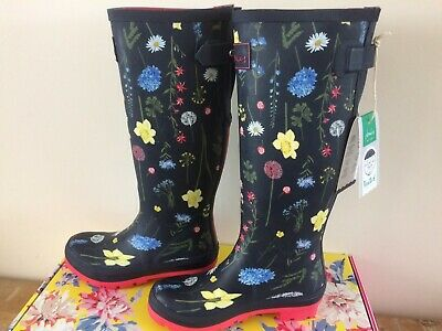 £39.95 • Buy BNWT Joules Navy Spring Flowers Tall Wellies Size 3 EU36 Women's Boxed