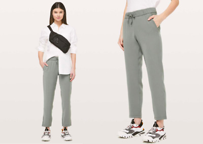 $ CDN26.02 • Buy LULULEMON On The Fly High Rise Luxtreme 7/8 Trousers Joggers Leggings Grey UK 8