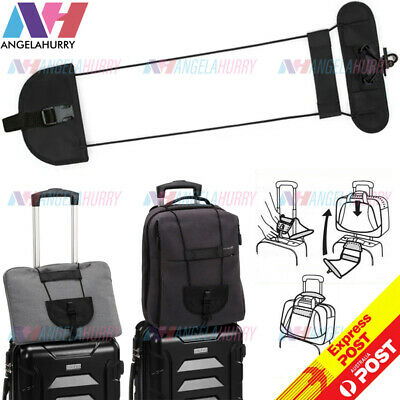 AU7.85 • Buy Travel Luggage Suitcase Adjustable Tape Belt Add A Bag Strap Carry On Bungee NEW